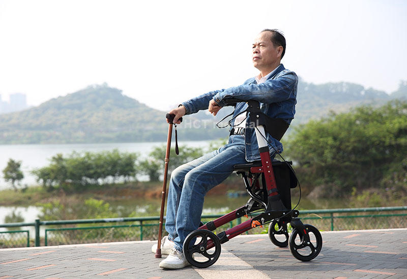 Hot simple aluminum rollator version HCT Medical Brand