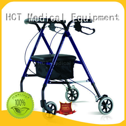 HCT Medical convenient lightweight folding rollator with seat and backrest forearm for hospital