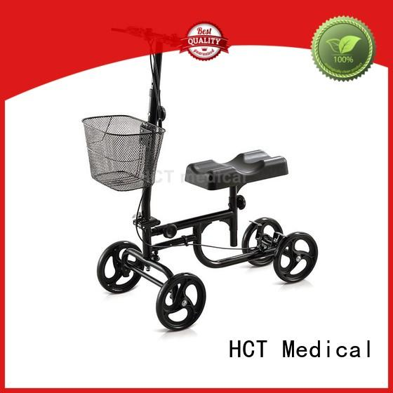 HCT Medical automotive style knee walker scooter series for hospital