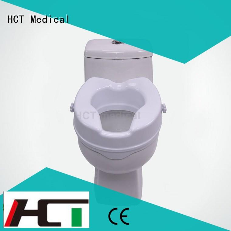 HCT Medical 2 inch raised toilet seat design for rehabilitation centre