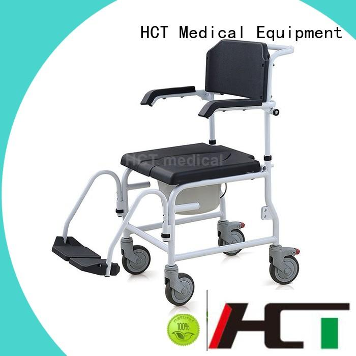 HCT Medical commode chair with wheels manufacturer for home use