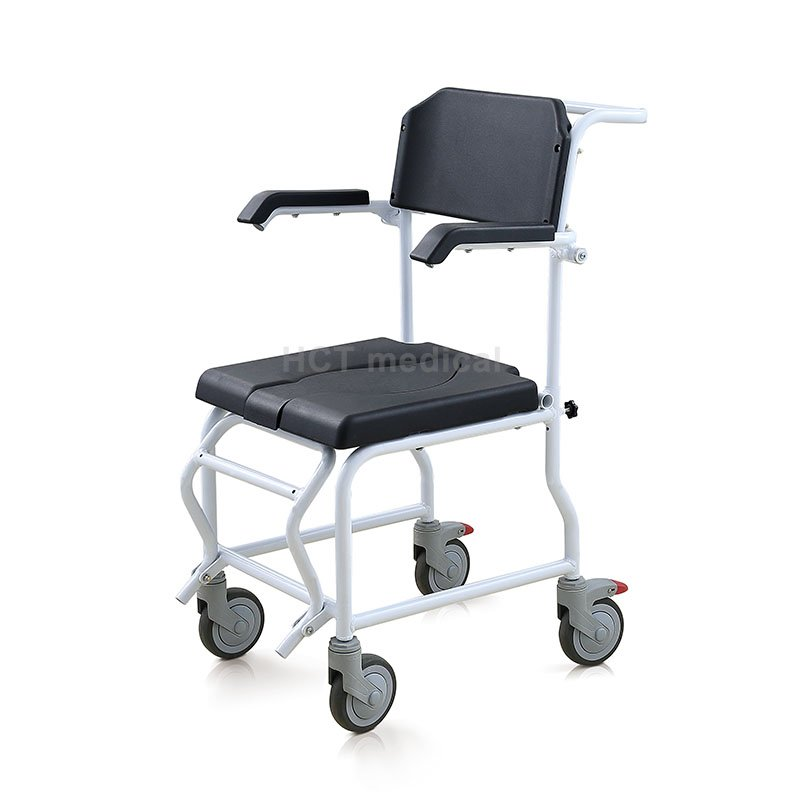 HCT Medical Mobile Wheeled Commode Toilet Chair HCT-3001 Commode Toilet Chair image33