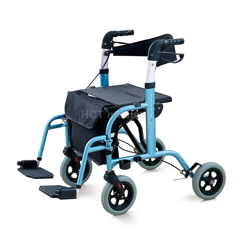 HCT Medical 2 in 1 Version Rollator & Transport Chair HCT-9103 Rollator Walker image26