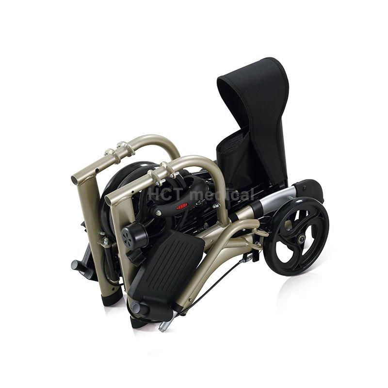 Rollator with footrest HCT-9124A