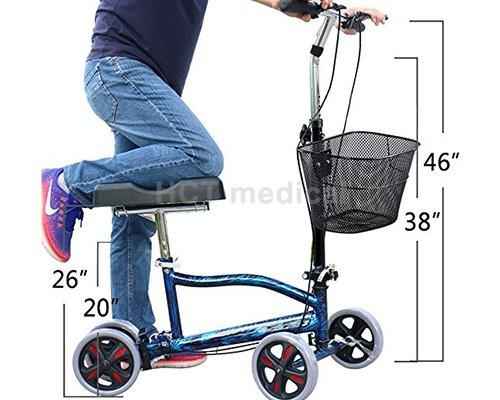 HCT Medical Brand walker terrain knee steel knee walker scooter