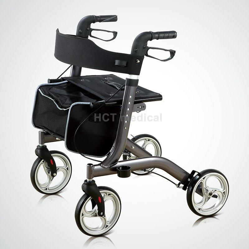 HCT Medical Brand patent function articulated custom aluminum rollator