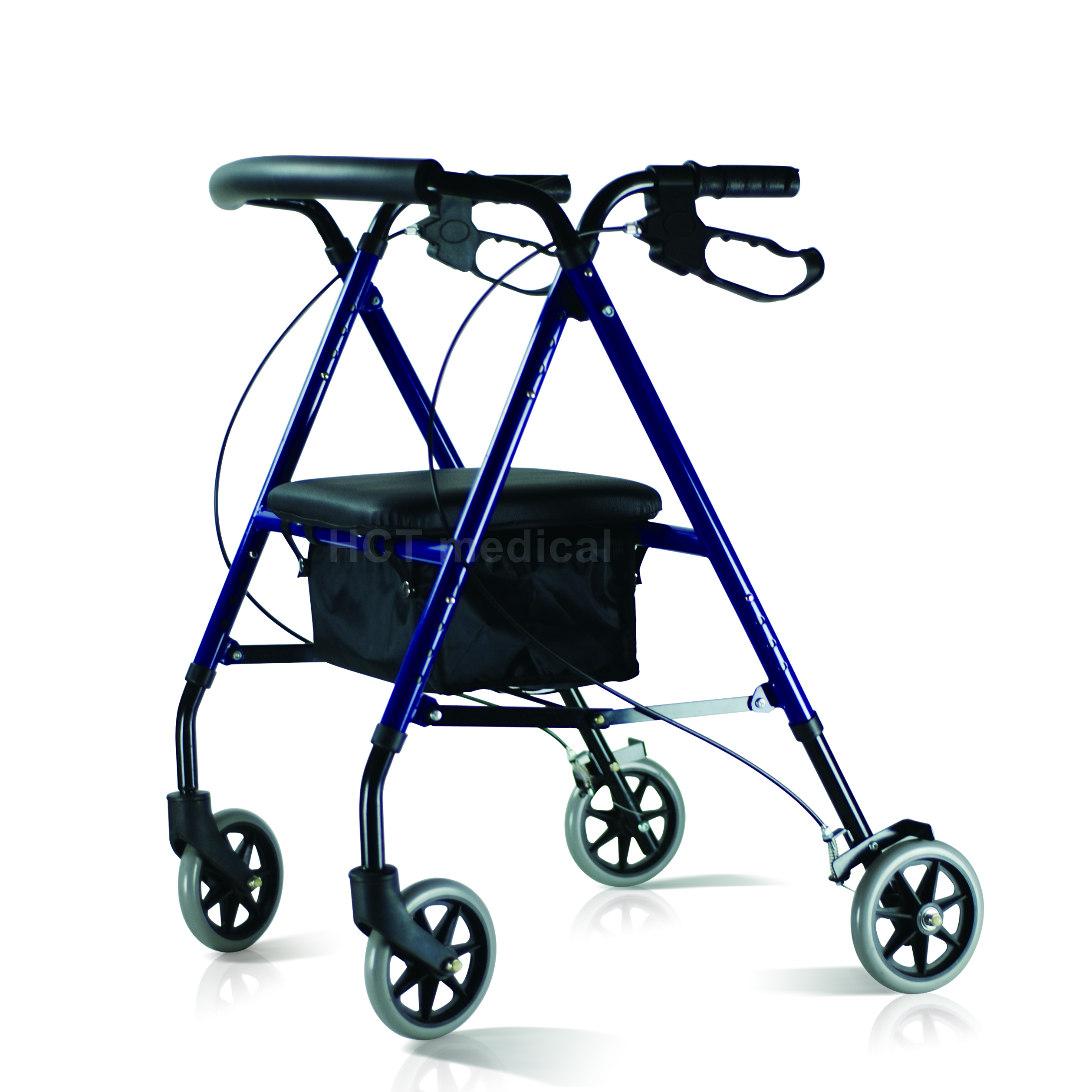 HCT Medical Steel Rollator with Bag and Seat HCT-9130 Rollator Walker image17