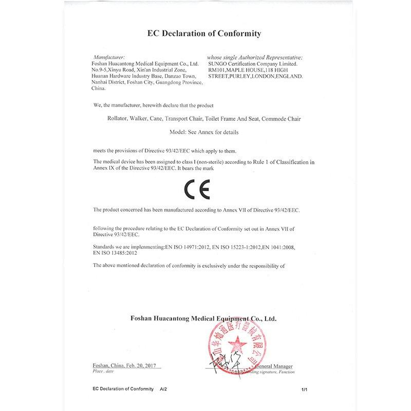 Appendix E--EC Declaration of Conformity