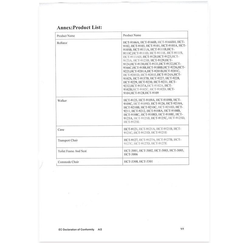 Appendix E--EC Declaration of Conformity