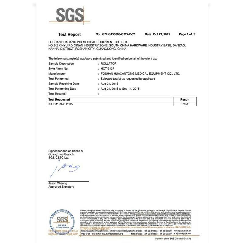 SGS test report HCT-9137