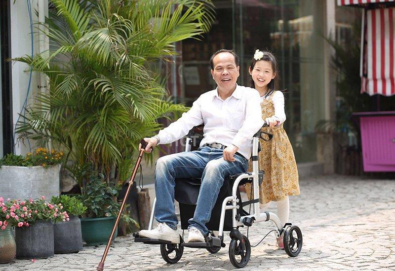 HCT Medical Brand knockeddown aluminum rollator simple supplier