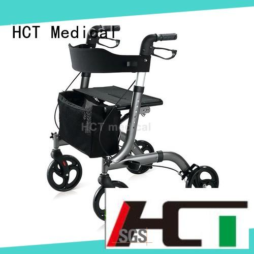 HCT Medical professional 4 wheel rollator with seat in bulk for elderly