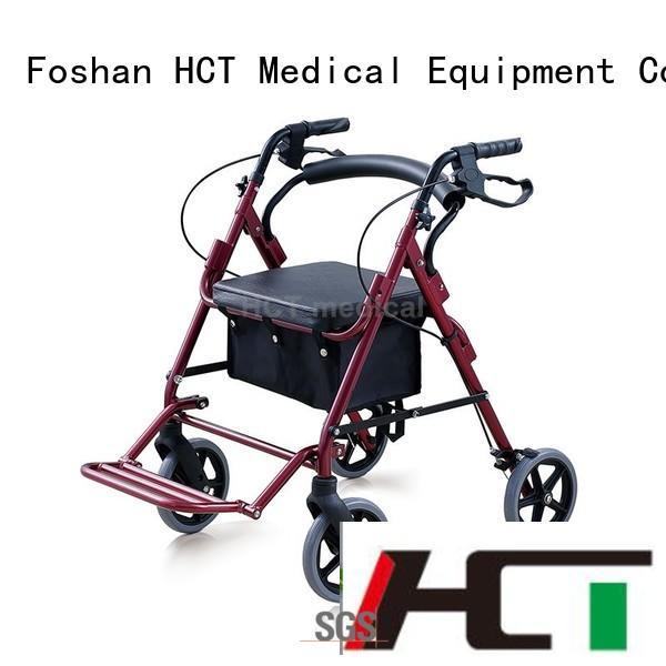 HCT Medical Brand aluminum lightweight wheeled bag rollator walker