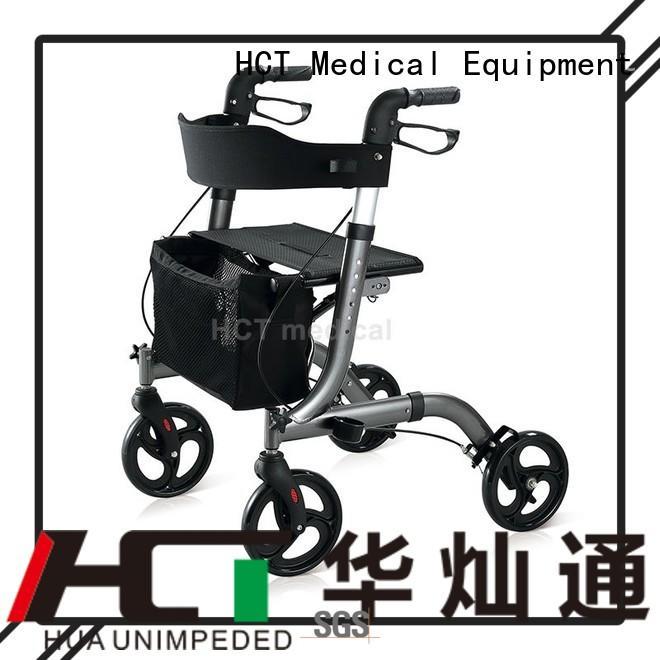 HCT Medical Brand transport patent walker knockeddown rollator walker
