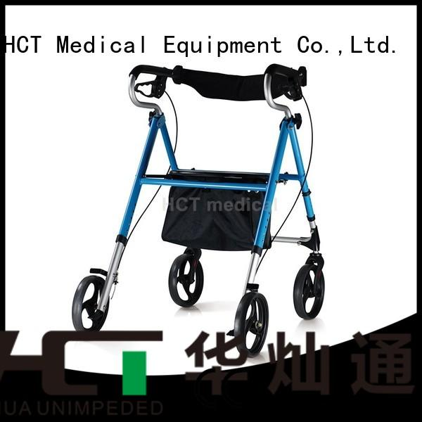 rolling folding HCT Medical Brand rollator walker