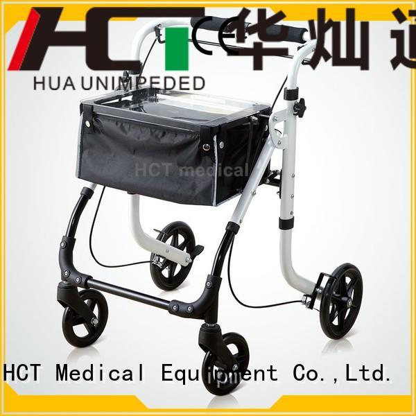 HCT Medical Brand knockeddown aluminum rollator simple supplier