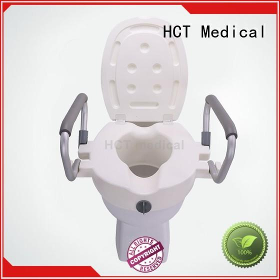 easy cleaning elevated toilet seat with handles design for hospital