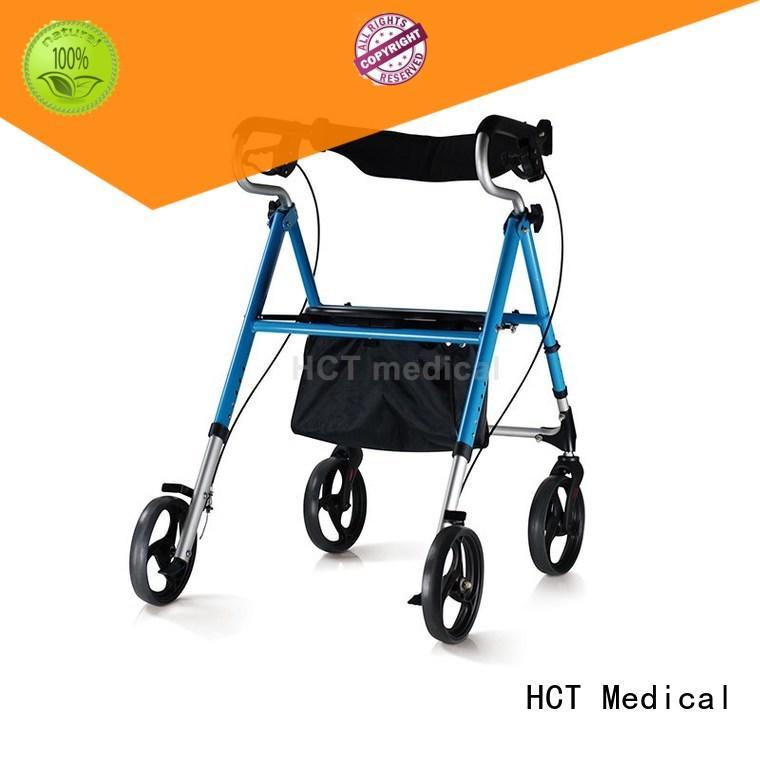 aluminum aluminum rollator forearm for rehabilitation centre HCT Medical