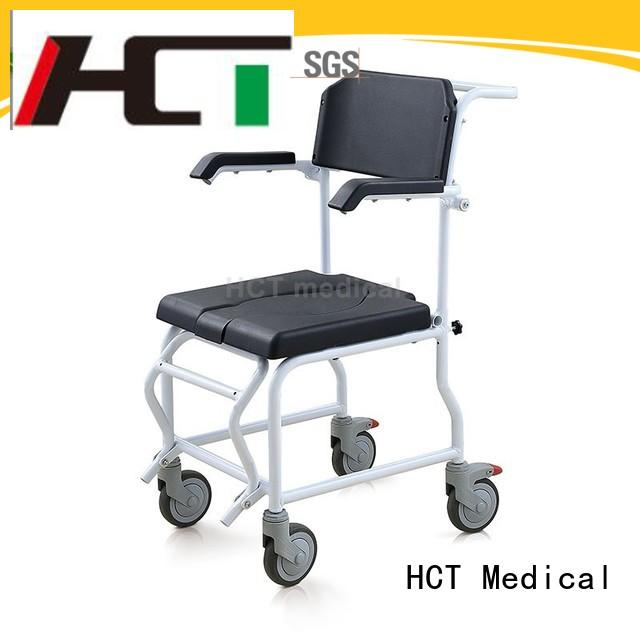 comfortable commode chair with wheels supplier for elderly