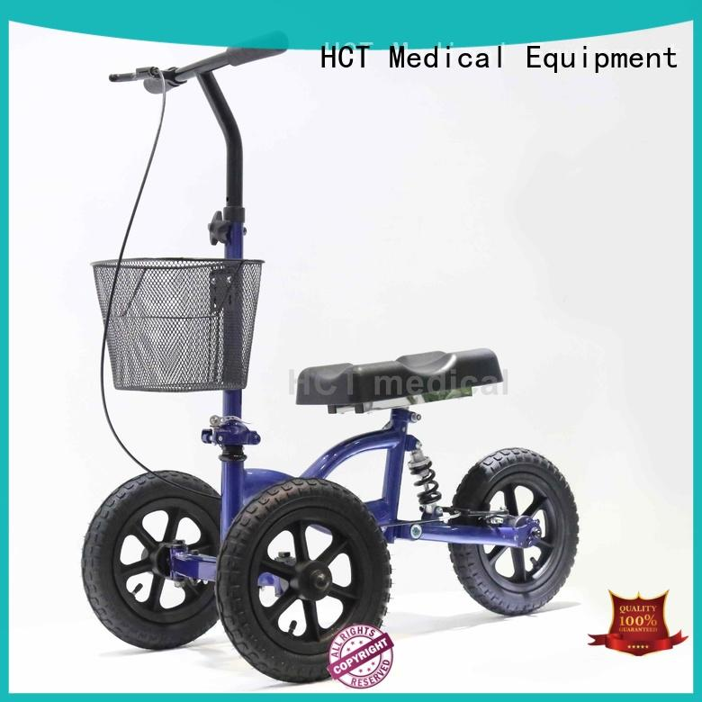HCT Medical foldable mobility knee scooter automotive style for rehabilitation centre