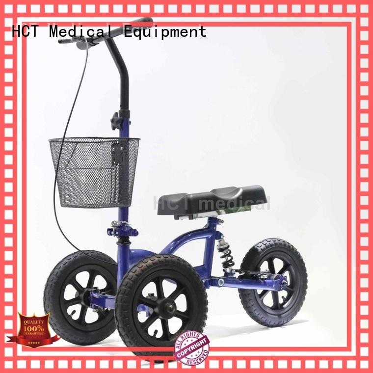 12 inch rubber wheels all terrain knee walker for sale automotive style for rehabilitation centre HCT Medical