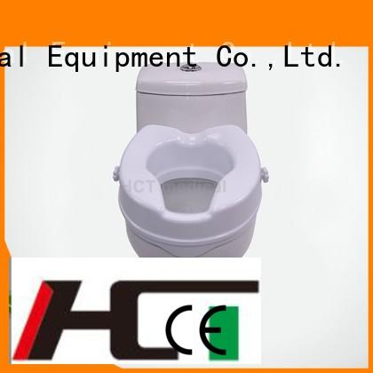 raised toilet seat with armrest 6 inch raised HCT Medical Brand company