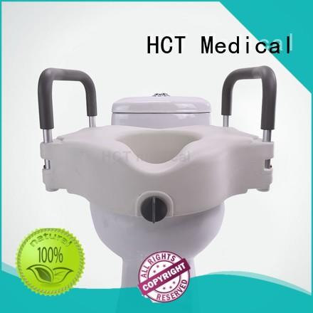 stable 2 inch raised toilet seat with arms manufacturer for disable people