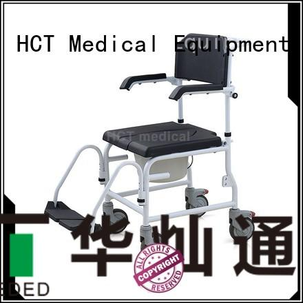 commode chair footrests commode toilet chair HCT Medical Brand