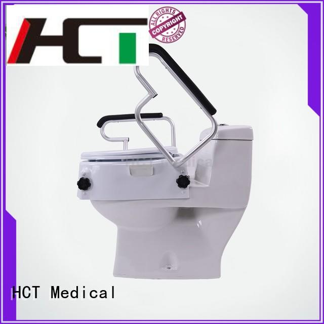 professional toilet seat riser with arms design for rehabilitation centre