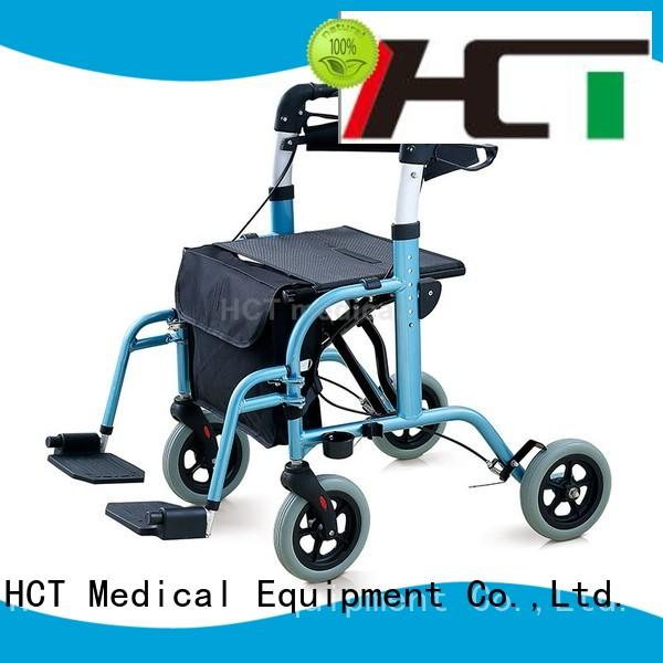 wheeled rolling foldable rollator walker HCT Medical Brand company