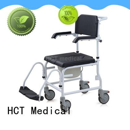 comfortable commode toilet chair with wheels factory for hospital