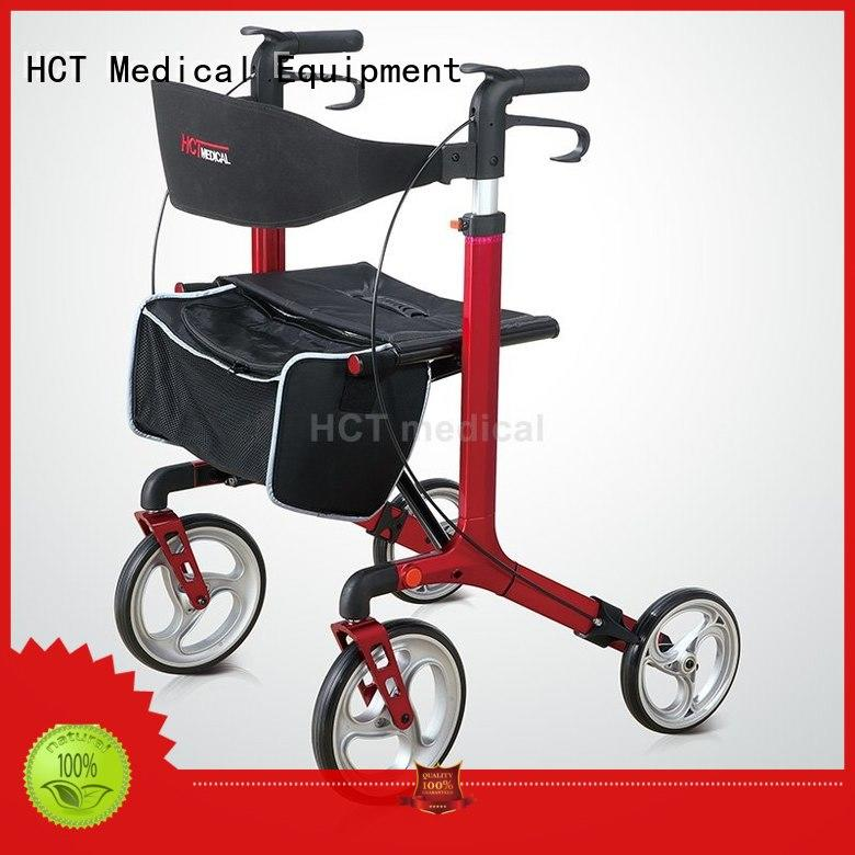 convenient folding rollator walker with seat in bulk for hospital HCT Medical