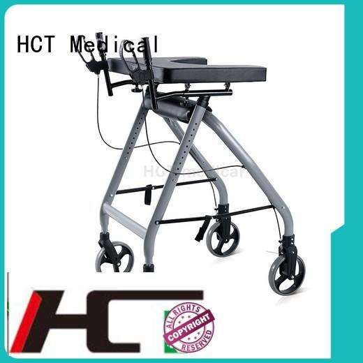 HCT Medical high quality foldable rollator supplier for rehabilitation centre