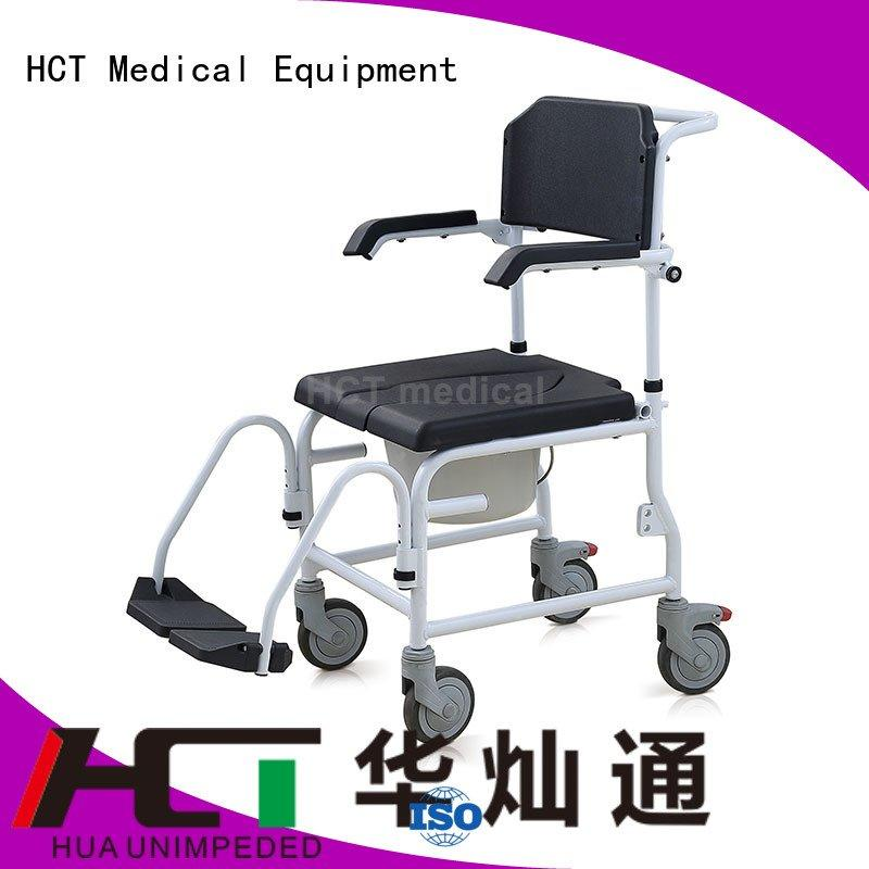 Wholesale mobile commode chair for sale HCT Medical Brand