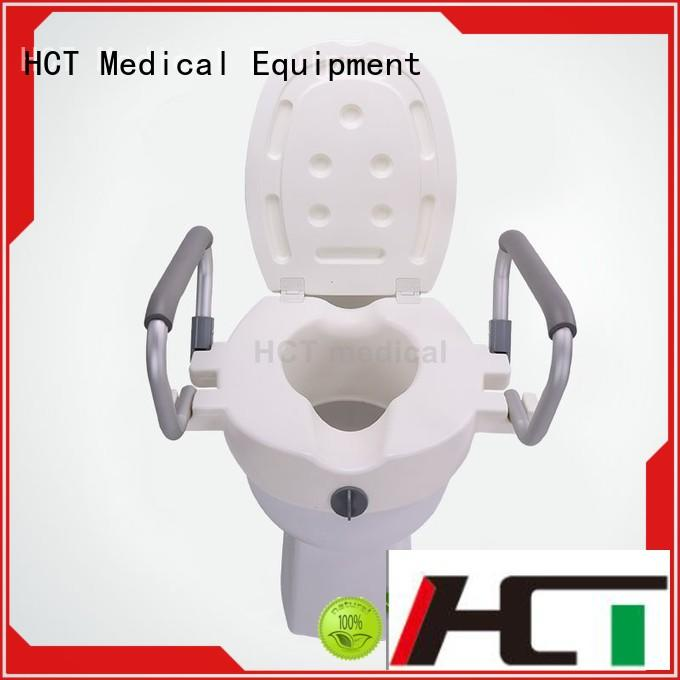 HCT Medical raised toilet seat with handles wholesale for rehabilitation centre