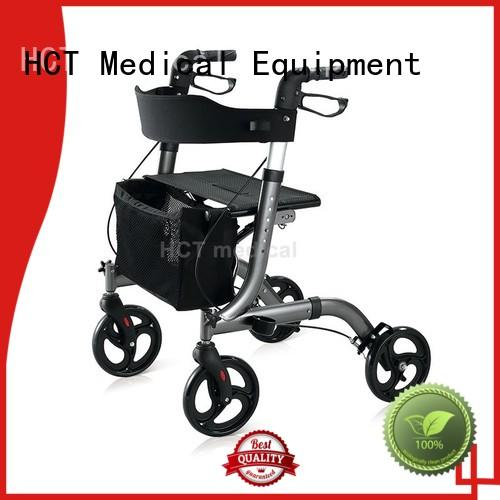 HCT Medical lightweight rolling knee walker forearm for patient