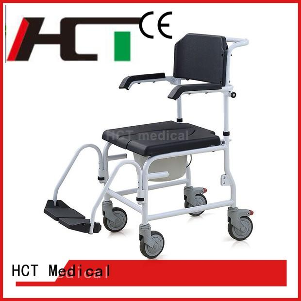 HCT Medical stable shower commode chair factory for home use