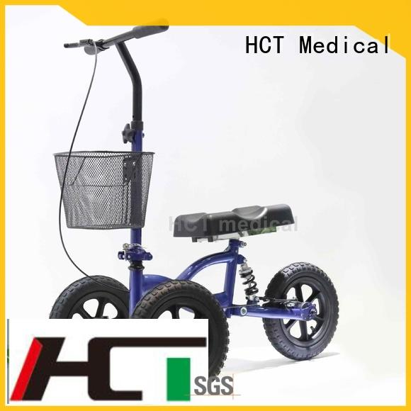 HCT Medical comfortable knee walker scooter for sale PU wheel for knee injured person