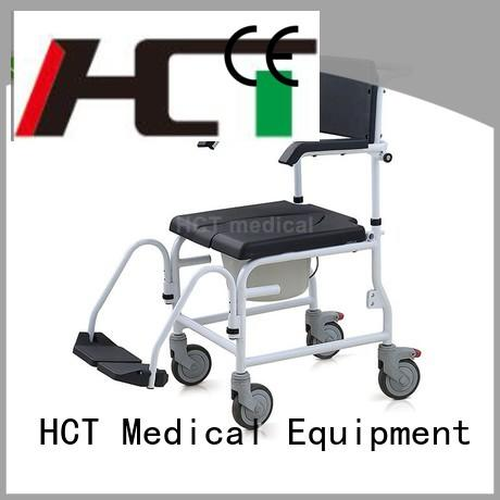 stable commode chair with wheels supplier for home use