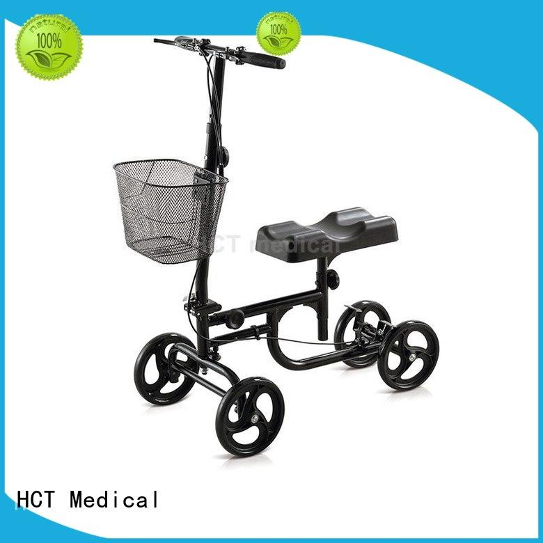 HCT Medical foldable scooter for knee injury automotive style for knee injured person