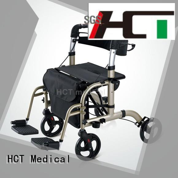 HCT Medical 4 wheel rollator with seat design for rehabilitation centre