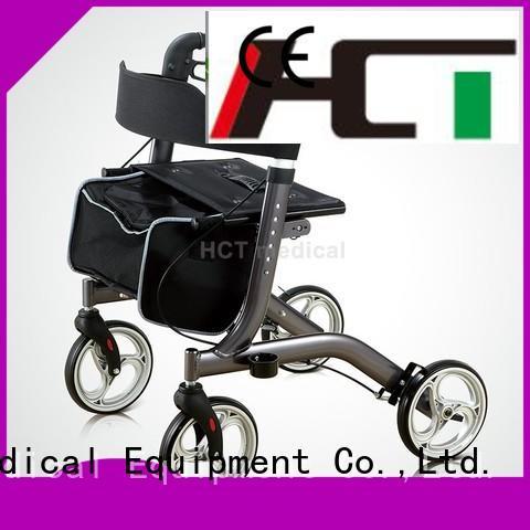 Custom steel height rollator walker HCT Medical chairrollator