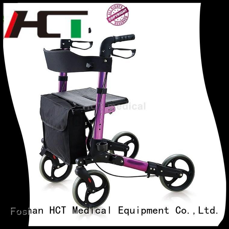 transfer height rolling aluminum rollator HCT Medical manufacture