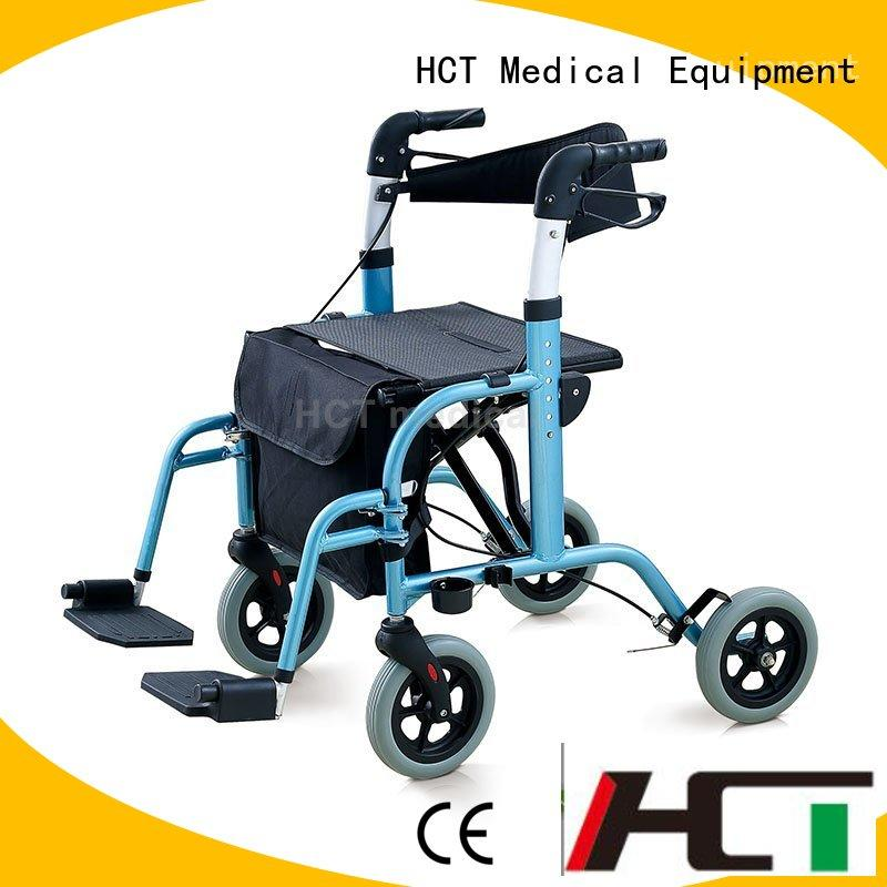 Quality HCT Medical Brand bag wheeled rollator walker