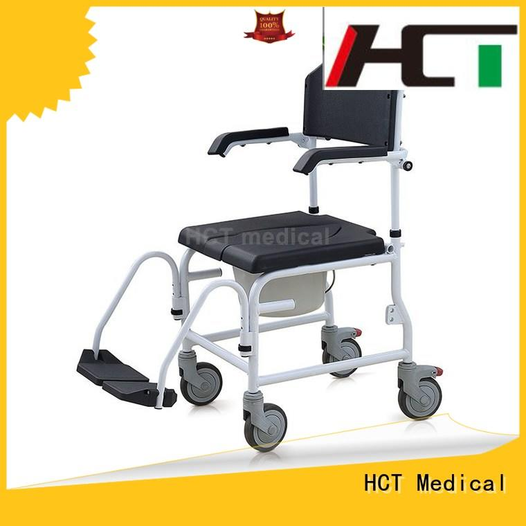 HCT Medical stable shower commode chair manufacturer for hospital