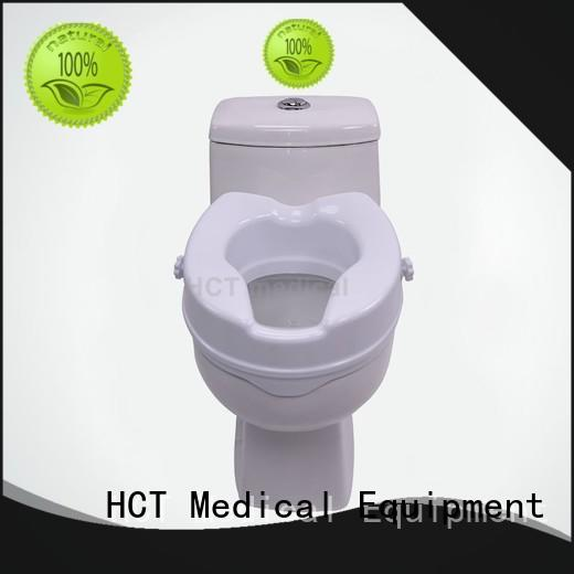 with armrest 2 inch raised toilet seat with arms EVA handle for hospital HCT Medical