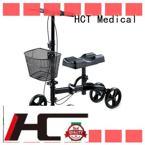 HCT Medical PU wheel all terrain knee walker for sale series for knee injured person