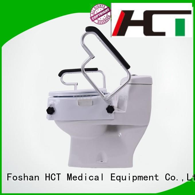 Hot raised toilet seat with armrest raised HCT Medical Brand
