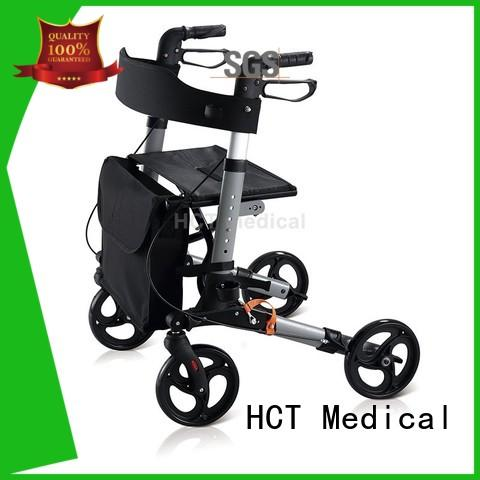 HCT Medical convenient 4 wheel rollator walker design for hospital
