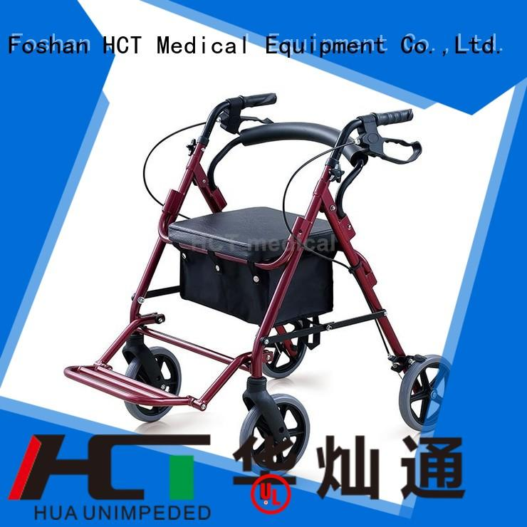 aluminum rollator steel adjustable HCT Medical Brand rollator walker